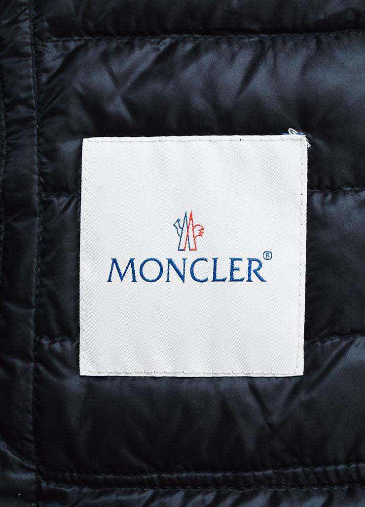 "Black Moncler Nylon Down Quilted ""Leyla"" Puffer Jacket Brand"