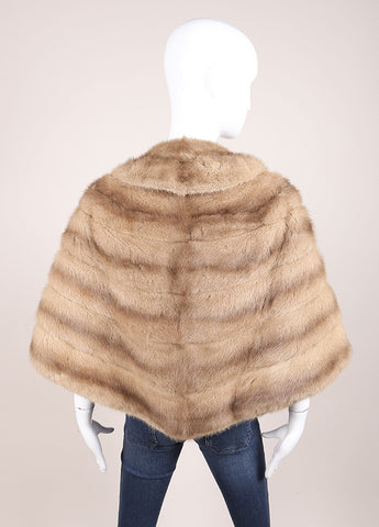 G Pappas Biege Mink Stole Backview