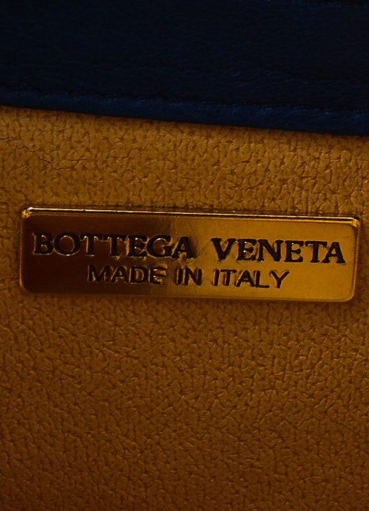 Bottega Veneta Navy, Red, and Orange Leather Intrecciato Cross Body Bag Brand