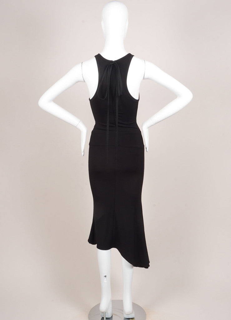 Boudicca New With Tags Black Knit Flare Sleeveless Dress Backview
