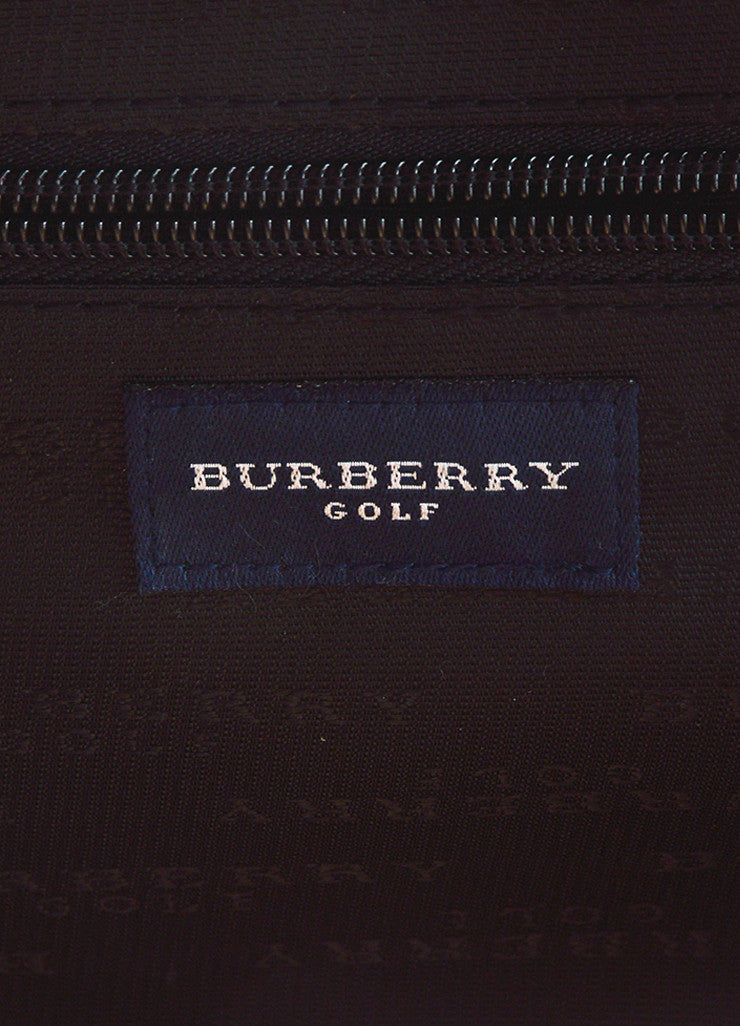 Burberry Golf Tan, Black, and Red Waterproof Nova Check Plaid Travel Duffel Bag Brand