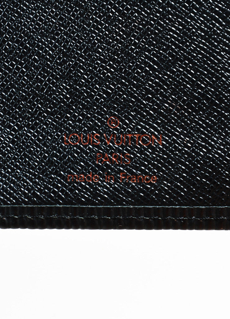 "Black Louis Vuitton Epi Leather ""French Purse"" Continental Wallet Brand"