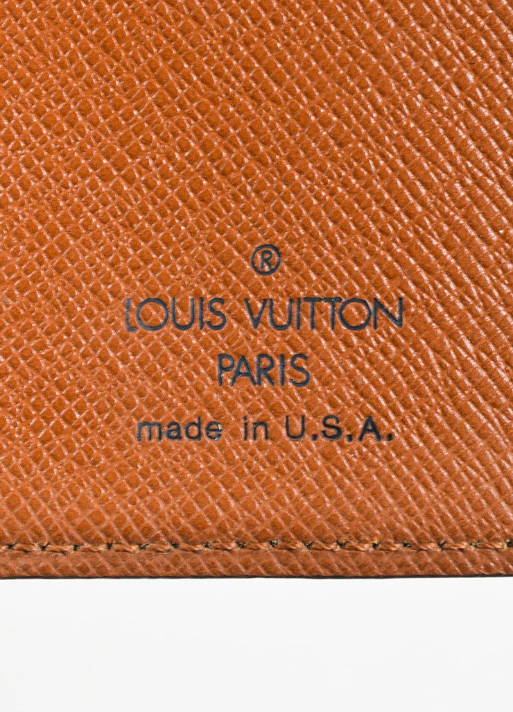 Louis Vuitton Brown and Tan Coated Canvas Monogram Bi Fold Wallet Brand