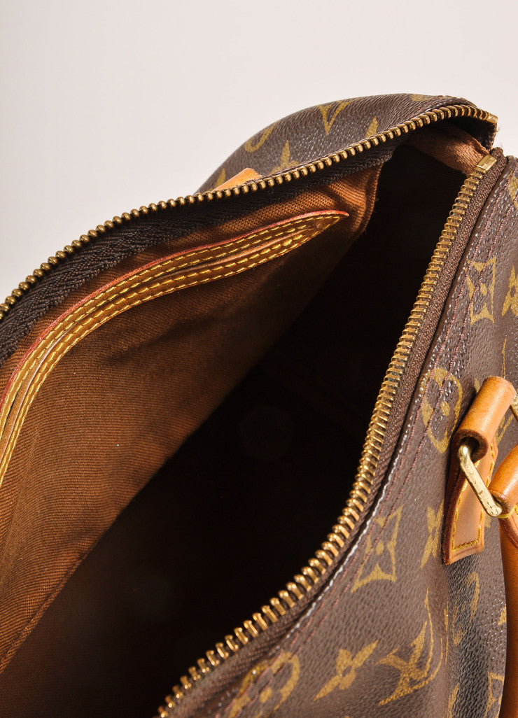 Louis Vuitton Brown Monogram Canvas 25cm Speedy Handbag Interior