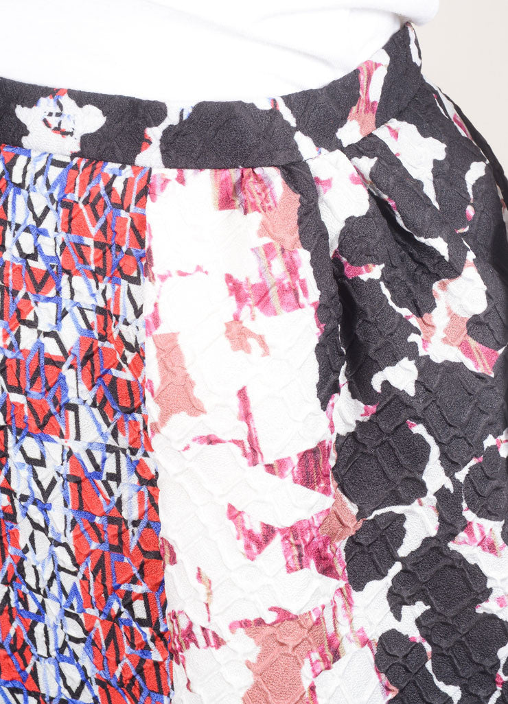 "Peter Pilotto Multicolor Camo Print Mattelasse ""Emma"" Skirt Detail"
