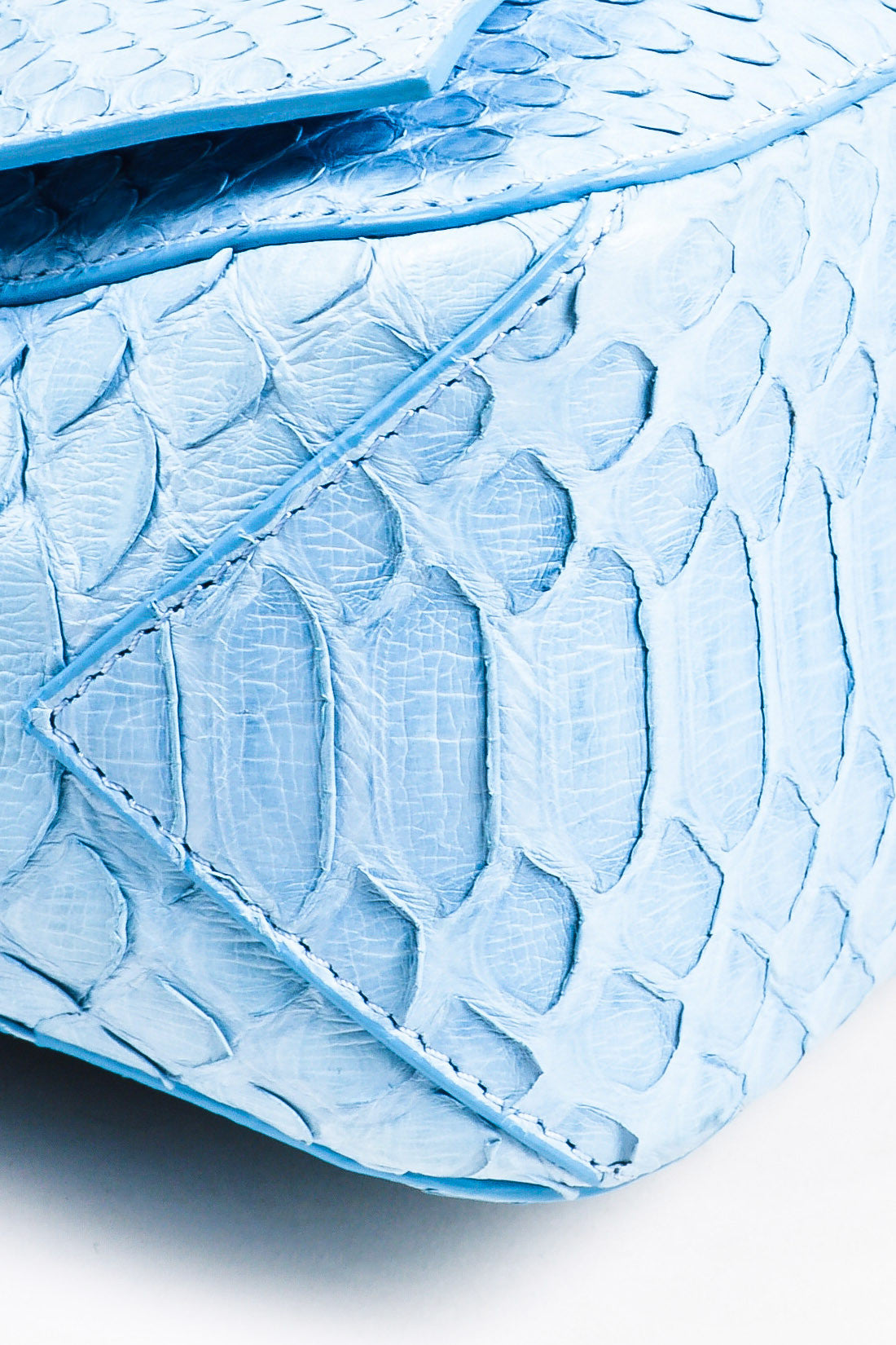 "Proenza Schouler Blue Python Two Tone Chain Shoulder Strap ""Small Courier"" Bag Detail"