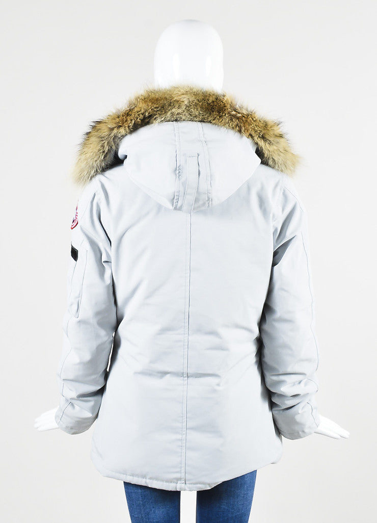 "Canada Goose ""Silverbirch"" Gray Coyote Fur Hooded ""Montebello"" Parka Backview"