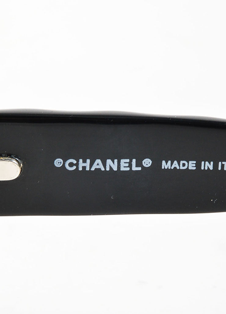 "Black Chanel Dark Tint Quilted 'CC' Logo Retro Style ""5094"" Rectangular Sunglasses Brand"