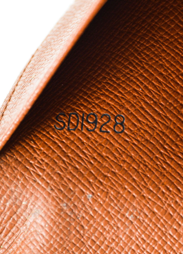 Louis Vuitton Brown and Tan Coated Canvas Monogram Bi Fold Wallet Date Code