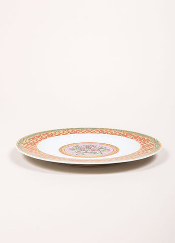"Versace Rosenthal ""Floral Elegy Rose Pink"" 9 inch Salad Plate Sideview"