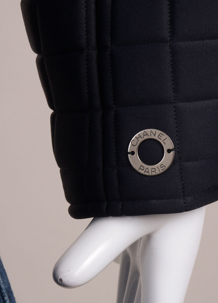 New With Tags Black Quilted Neoprene Jacket