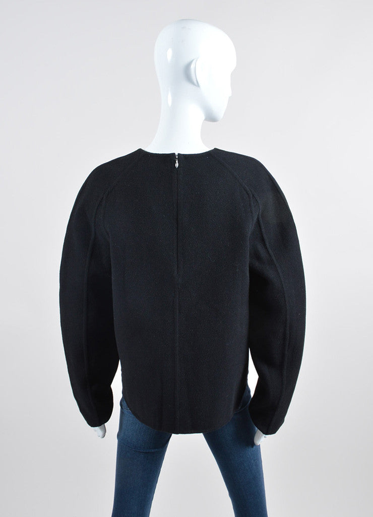 """Jet"" Black Alexander Wang Wool and Cashmere Long Sleeve Pullover Sweater Backview"