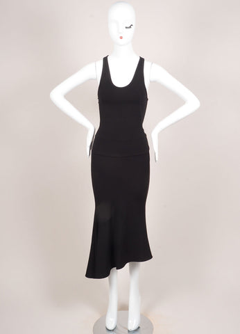 Boudicca New With Tags Black Knit Flare Sleeveless Dress Frontview