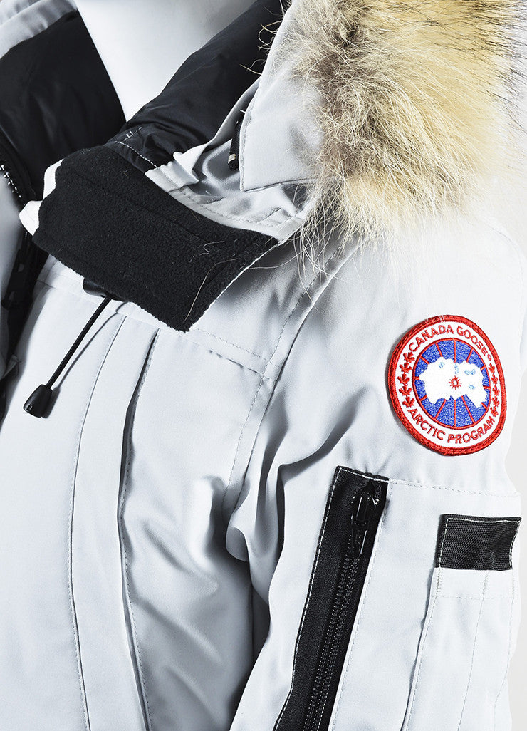 "Canada Goose ""Silverbirch"" Gray Coyote Fur Hooded ""Montebello"" Parka Detail"