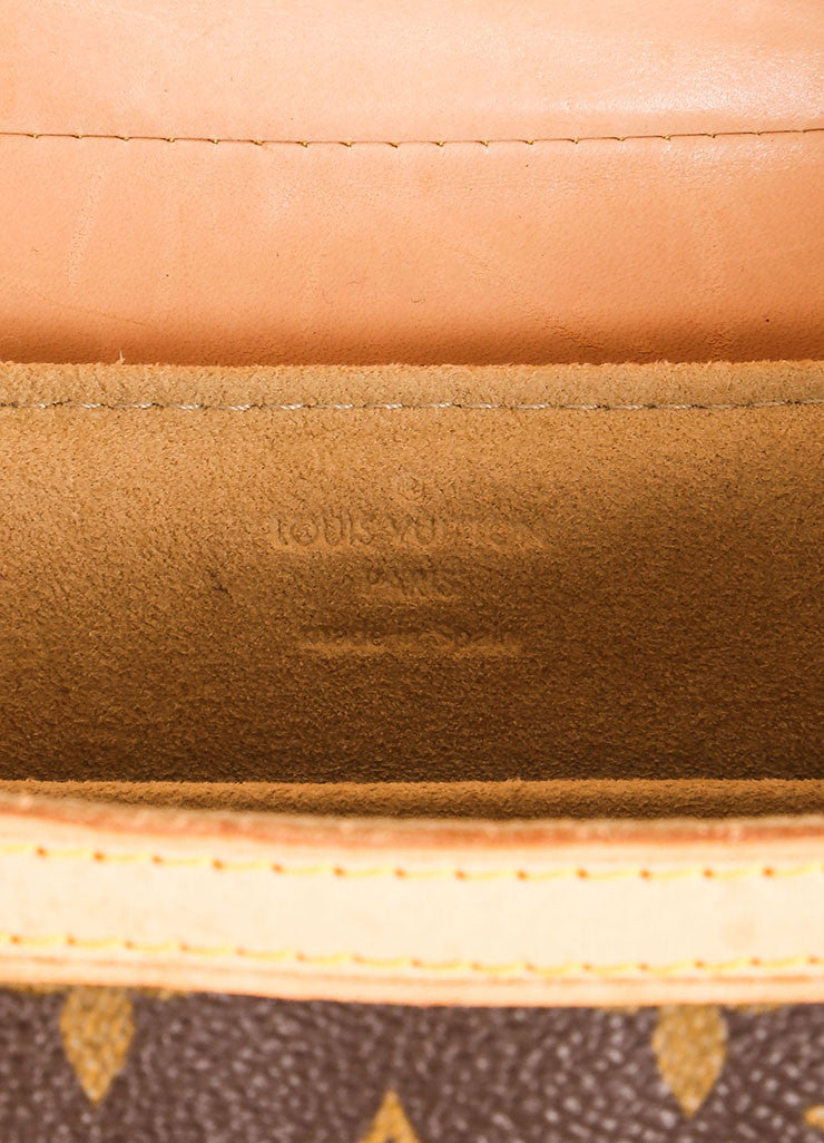 "Louis Vuitton Brown and Tan Coated Canvas and Leather Monogram ""Leonor"" Shoulder Bag Brand"