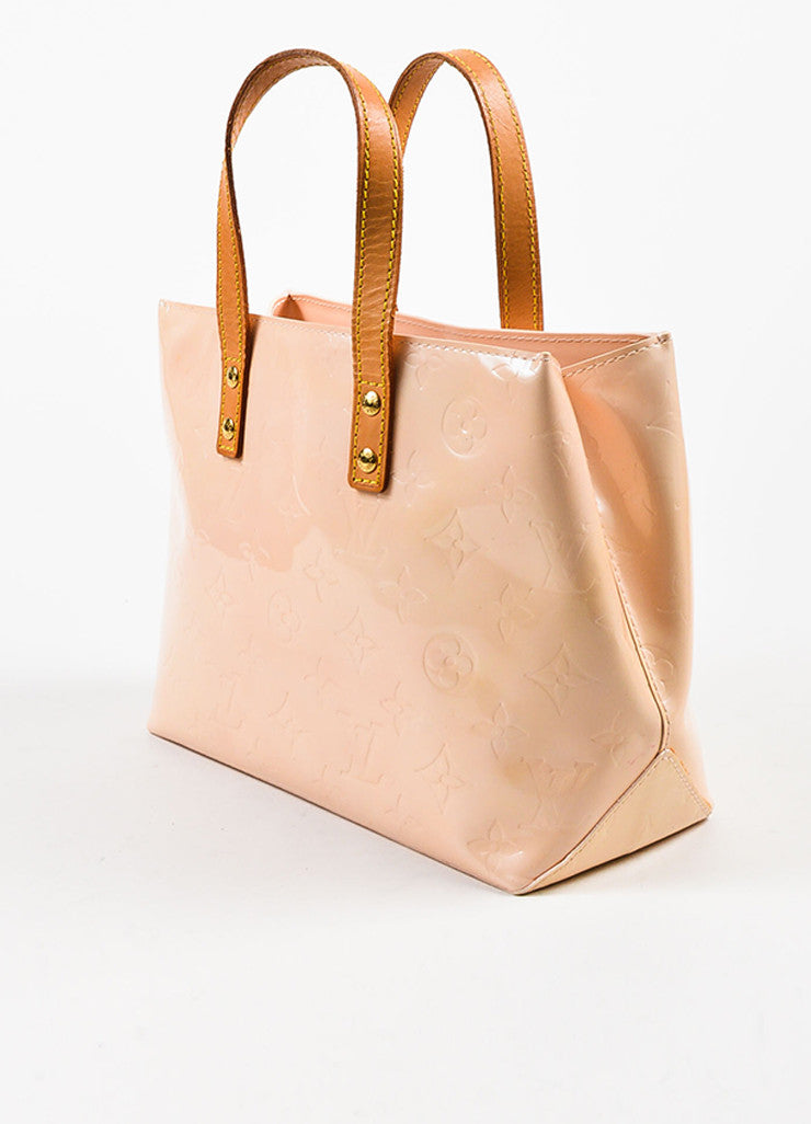 "Peach ""Marshmallow"" Louis Vuitton Vernis Leather ""Reade PM"" Tote Bag Back"
