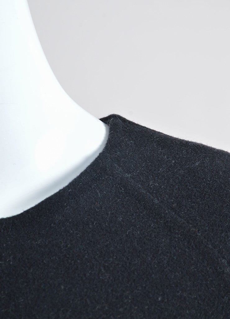 """Jet"" Black Alexander Wang Wool and Cashmere Long Sleeve Pullover Sweater Detail"