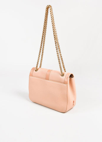 "Christian Louboutin GHW Nude Pebbled Leather Small ""Sweet Charity"" Bag Sideview"