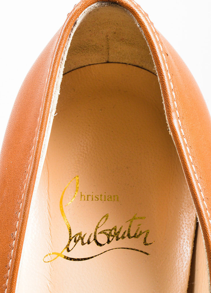 Brown Christian Louboutin 'Alta Campus 120' Loafer Heel Brand
