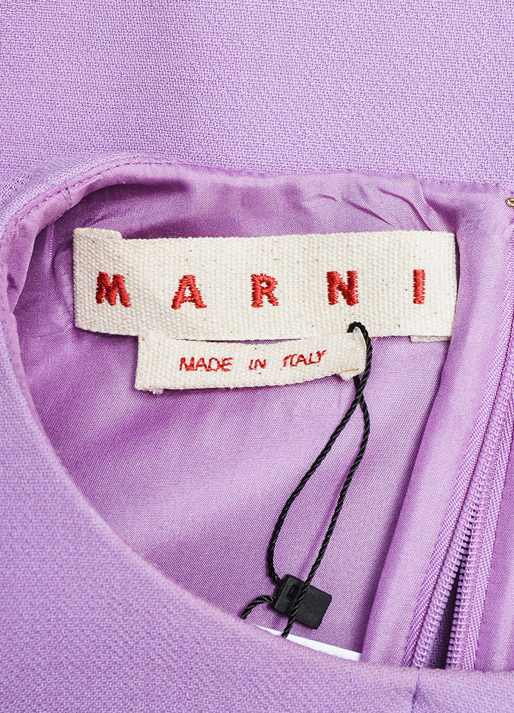 Purple and Two-Tone Green Marni Wool Mini Mod Shift Dress Brand