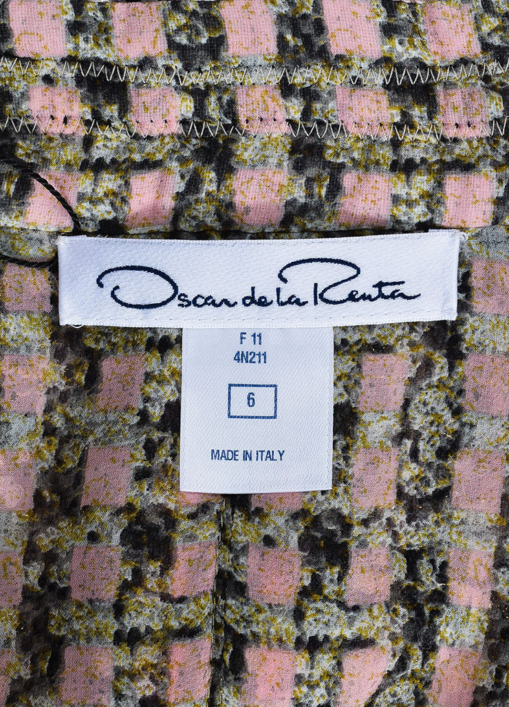 Multicolor Oscar de la Renta Tweed Fringe Trim Jacket Brand