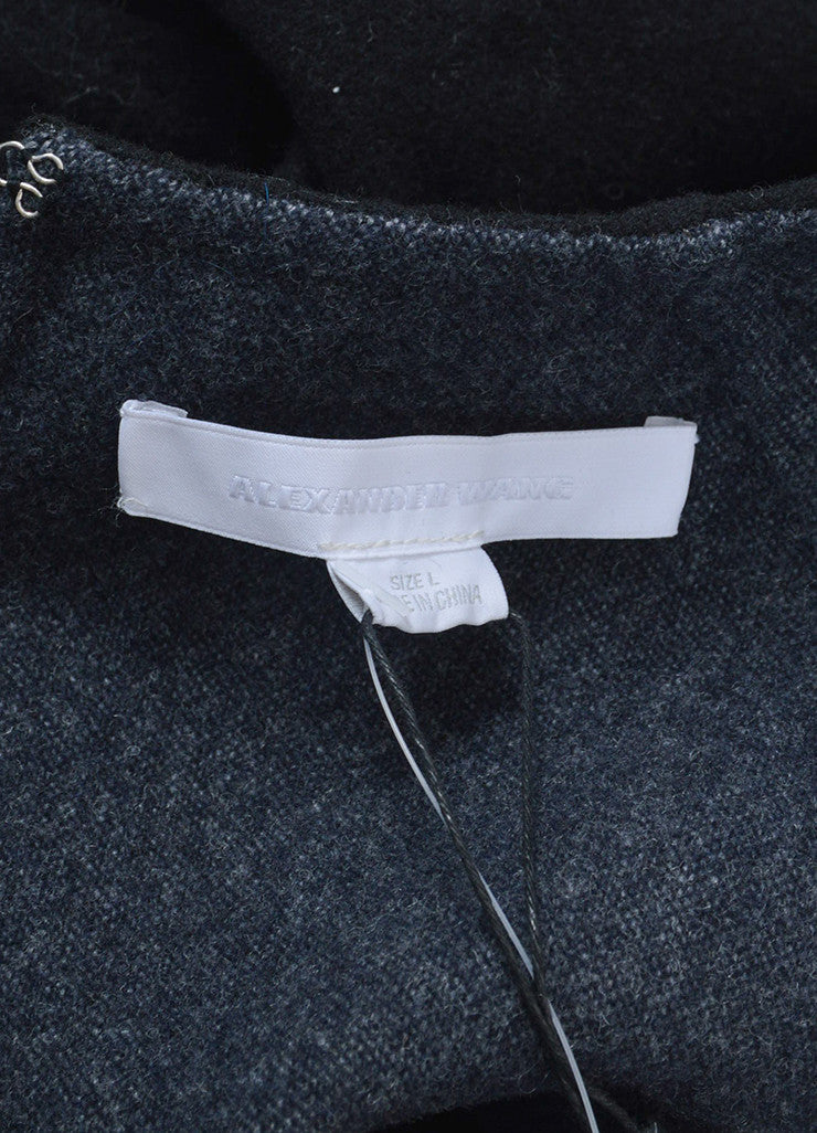 """Jet"" Black Alexander Wang Wool and Cashmere Long Sleeve Pullover Sweater Brand"