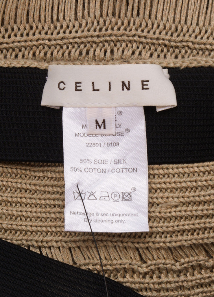 Celine Beige Silk and Cotton Tiered Knit Long Skirt Brand