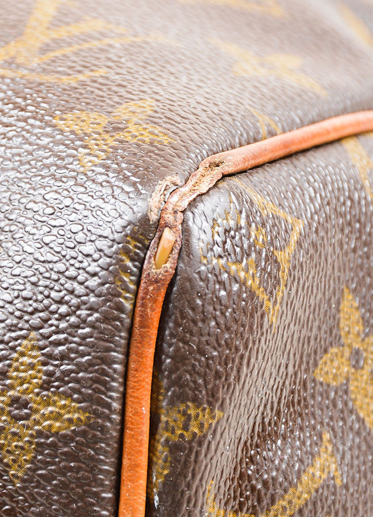Brown Louis Vuitton Monogram Canvas Speedy 30cm Duffel Bag Detail 2