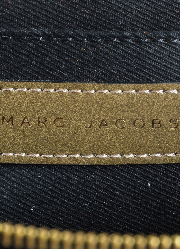 Marc Jacobs Khaki Green Taupe Leather Chain Strap Flap Shoulder Bag Brand