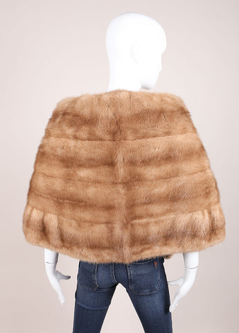 Arthur Stevens Tan Fur Stole Backview