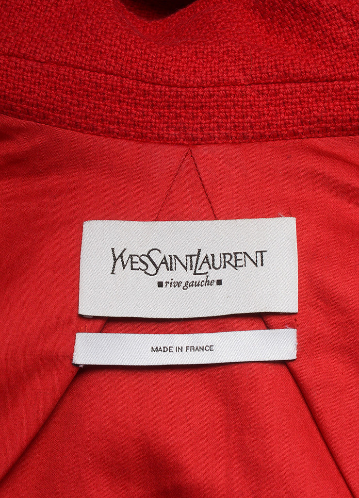 Yves Saint Laurent Red Cotton Cropped Jacket Brand