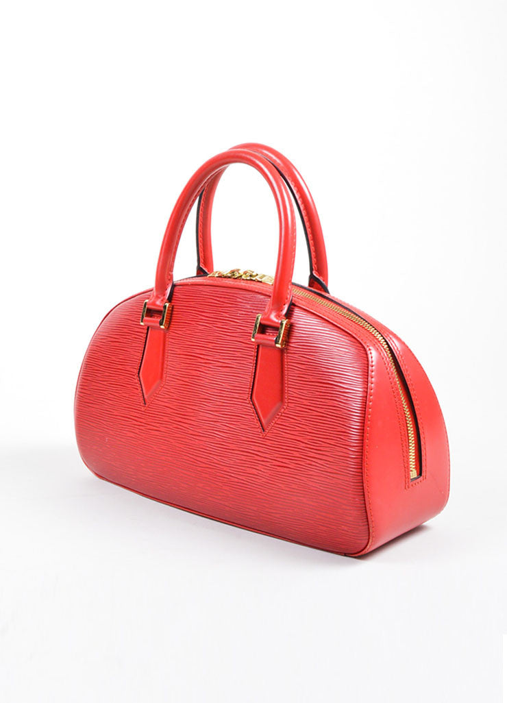 "Louis Vuitton Red Epi Leather ""Jasmine"" East West Handbag Sideview"