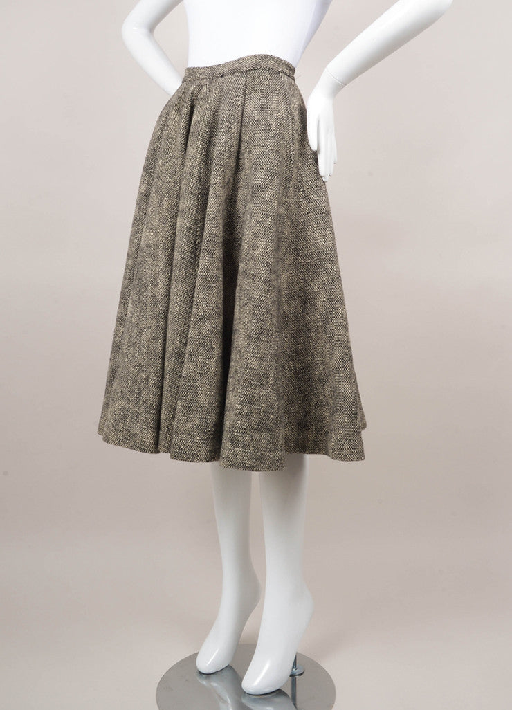 Black and White Tweed Circle Skirt