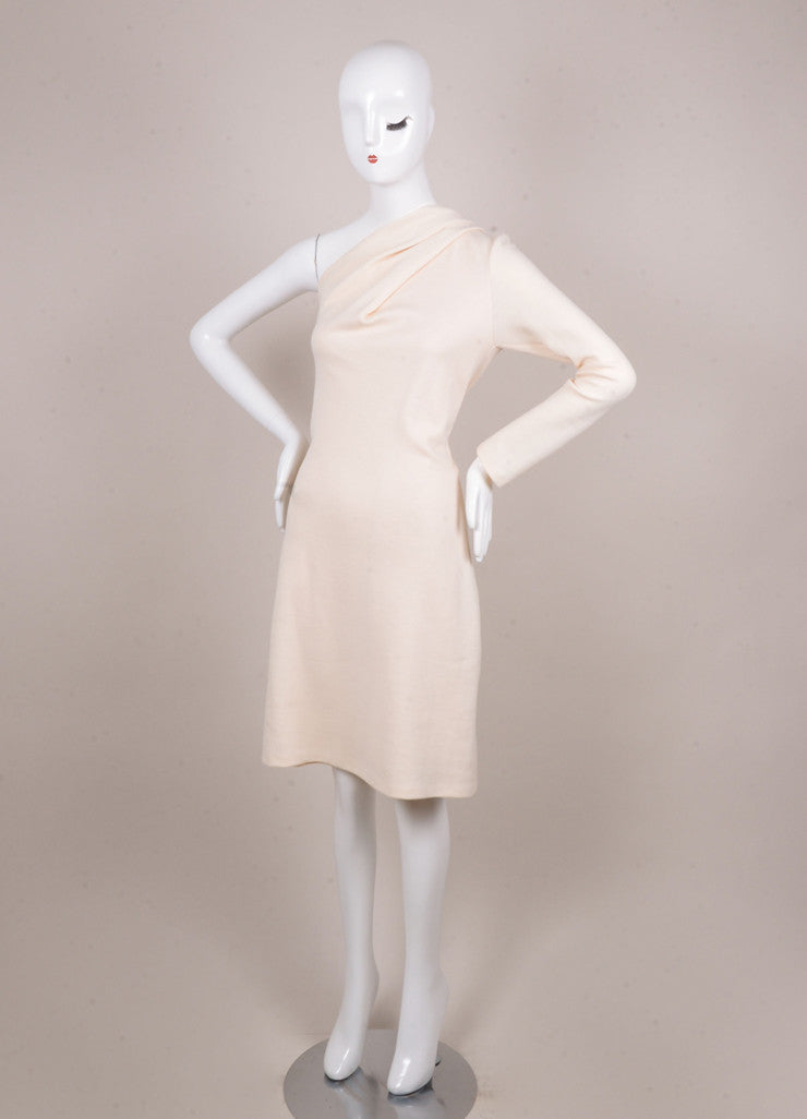 Cream One Sleeve Dress