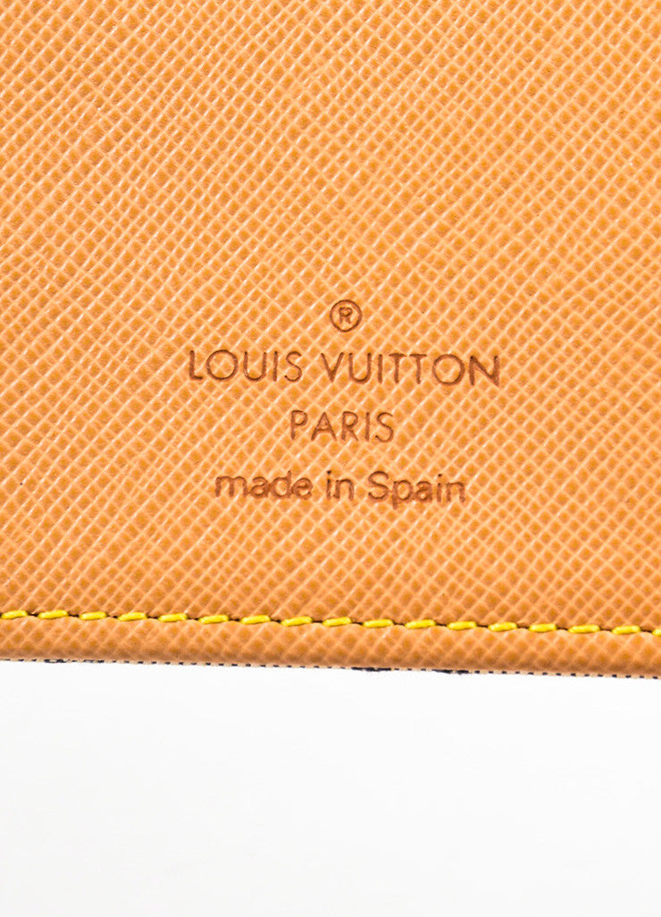 "Louis Vuitton Grey and Blue Canvas Monogram ""Mini Lin Small Agenda"" Cover Brand"
