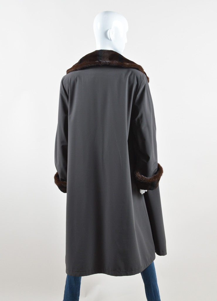 Maximilian Alta Moda Brown Sheared Mink Reversible Coat Back