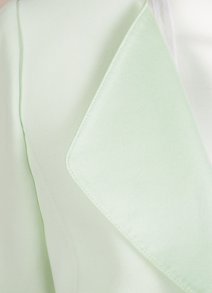 Thierry Mugler Mint Green Structured Long Sleeve Jacket Detail