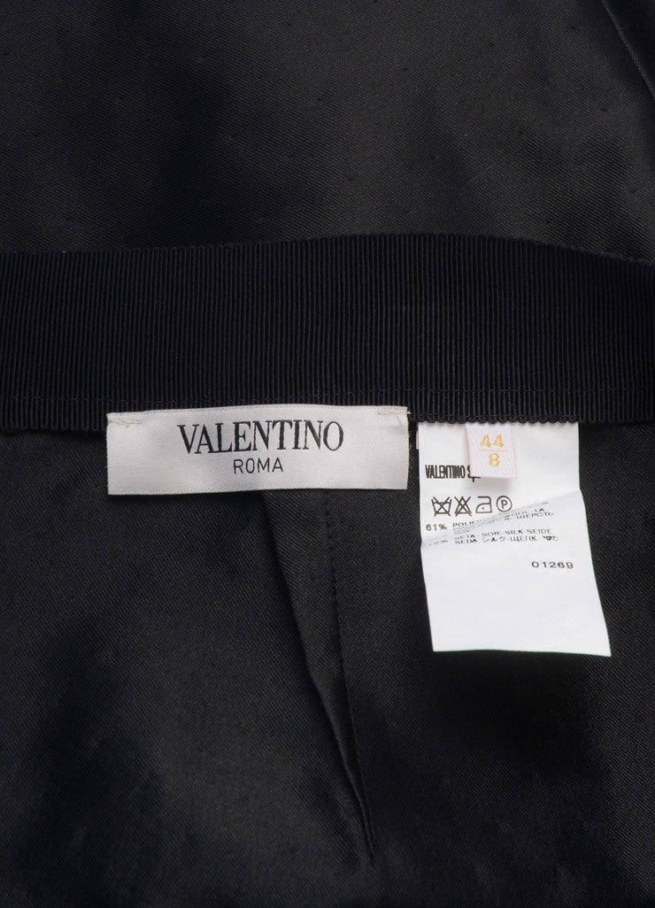 Valentino New With Tags Black Dot Stitch Wool and Silk Blend Pencil Skirt Brand