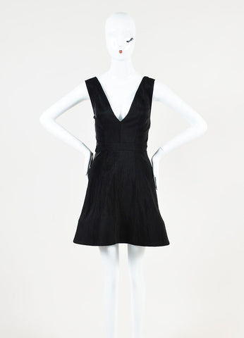 Cushnie Et Ochs Nylon Sleeveless Deep V Cut Backless Dress Frontview