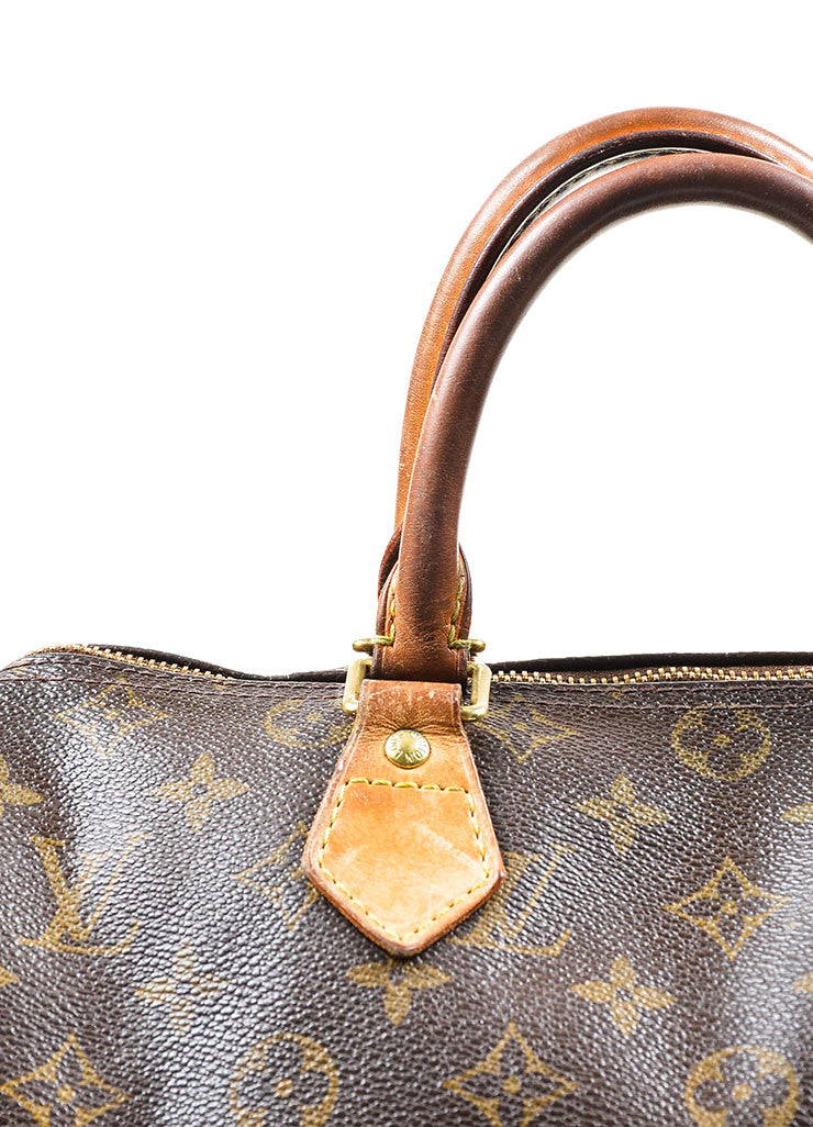 Brown Louis Vuitton Monogram Canvas Speedy 30cm Duffel Bag Detail 5