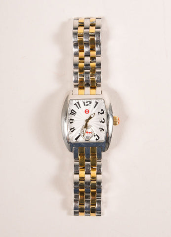 Michele Silver and Gold Toned Stainless Steel Watch Frontview