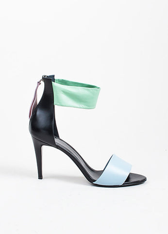 Black and Pastel Multicolor Pierre Hardy Leather High Heeled Sandals Sideview