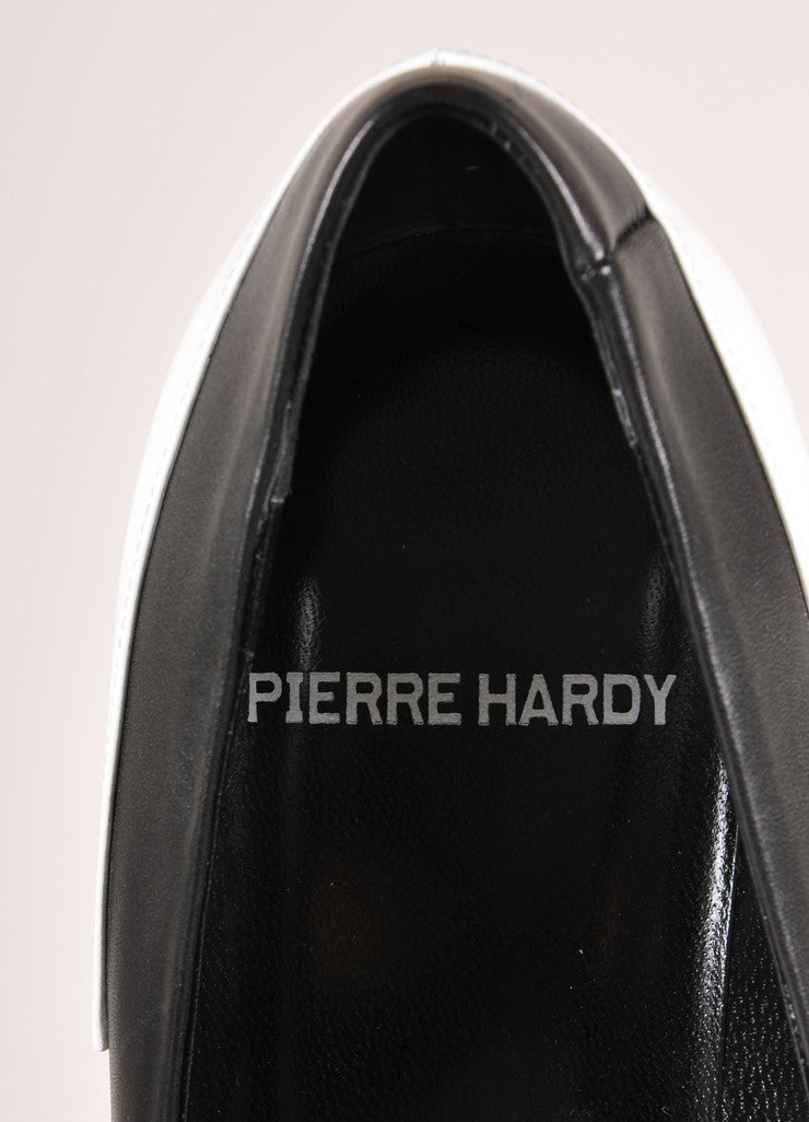 Pierre Hardy New In Box Black and White Leather Colorblock Pointed Toe Heels Brand