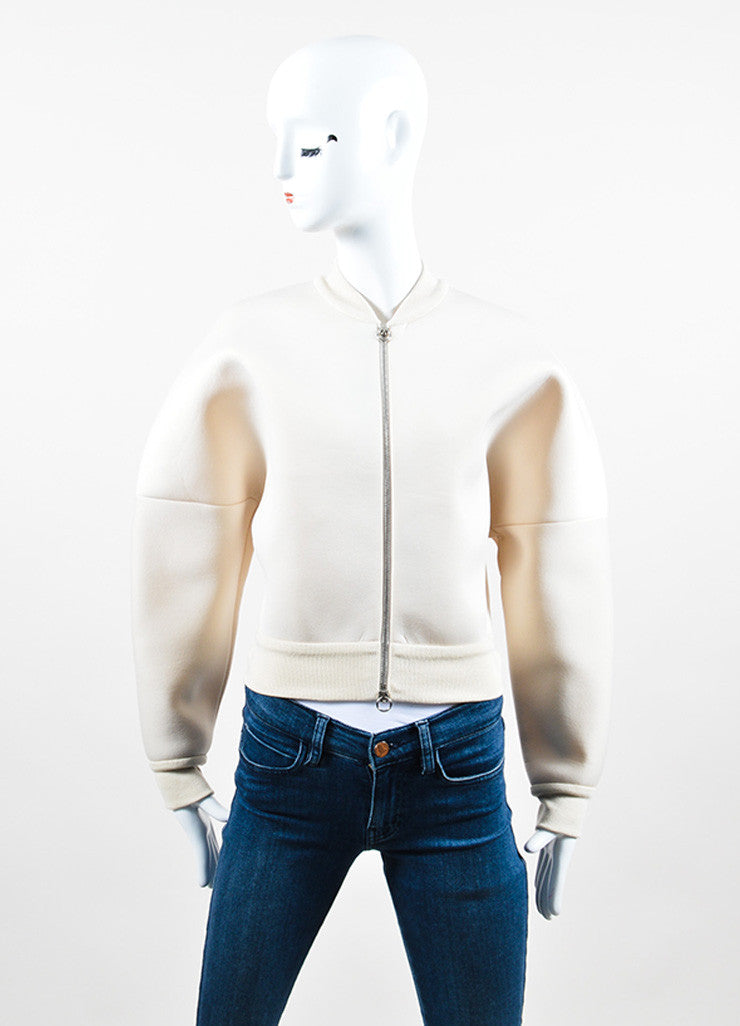 Cream Stella McCartney Scuba Structured Bomber Jacket Frontview