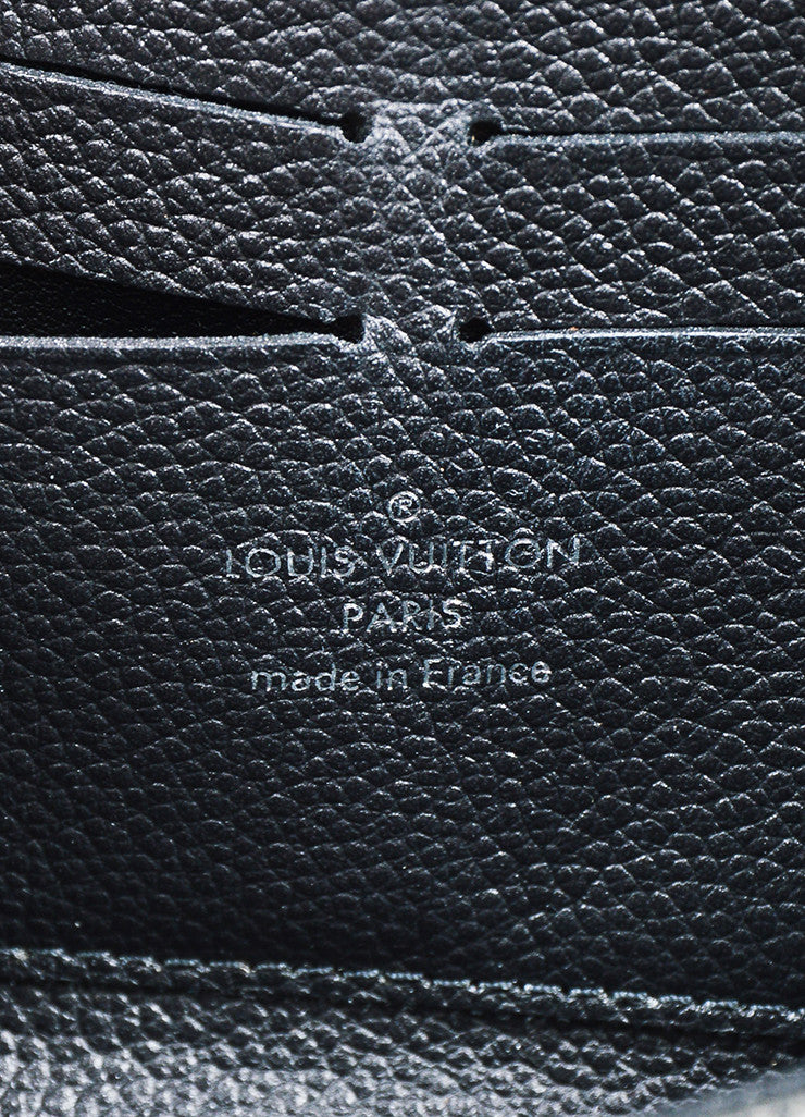 "Louis Vuitton Grey Monogram Empreinte Leather Studded Monogram ""Zippy"" Wallet Brand"