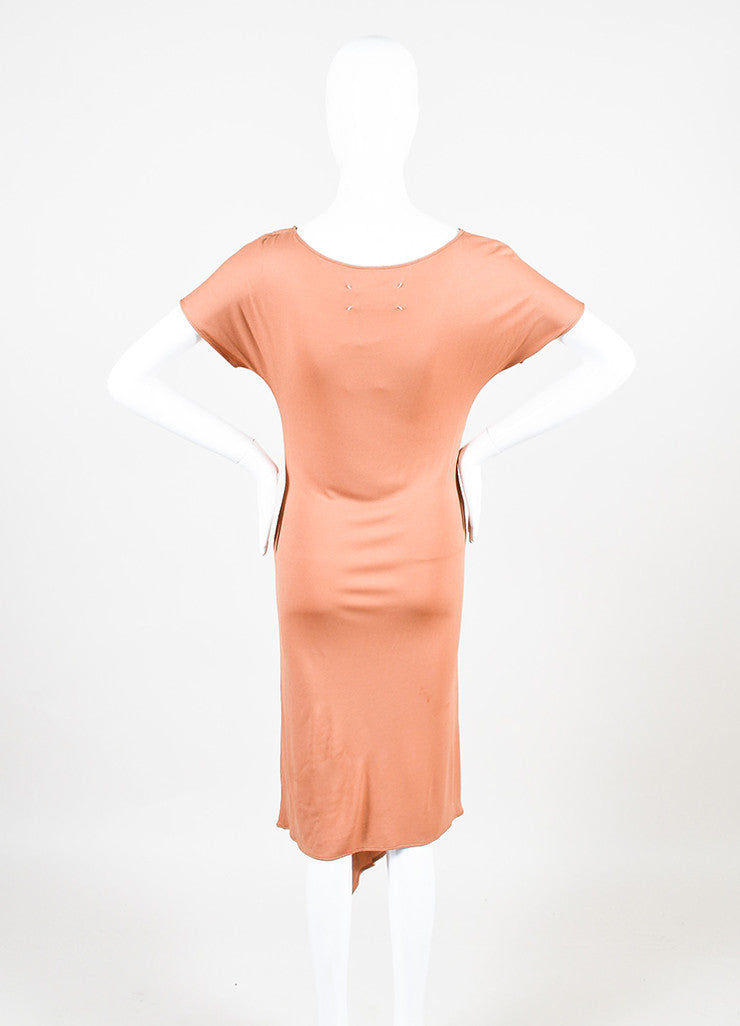 Maison Martin Margiela Coral Short Sleeve Pleated Detail Dress Backview