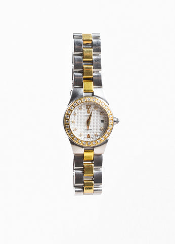 "Concord Stainless Steel 18K Gold Diamond ""Mariner"" Two Tone Bracelet Watch Frontview"