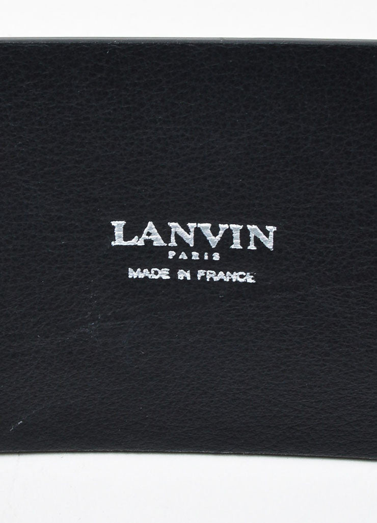 Black Lanvin Leather Eyelet Link Strap Waist Belt Brand