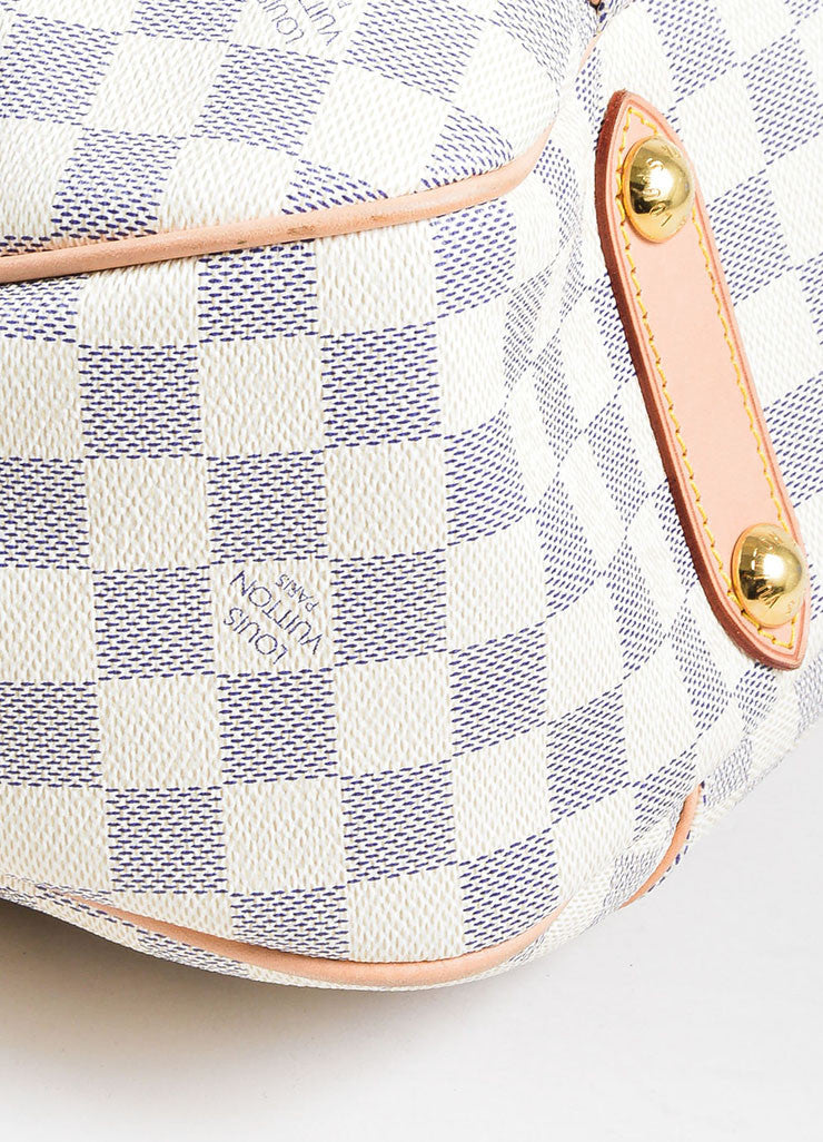 "Louis Vuitton Damier Azur Canvas ""Galliera PM"" Shoulder Bag"
