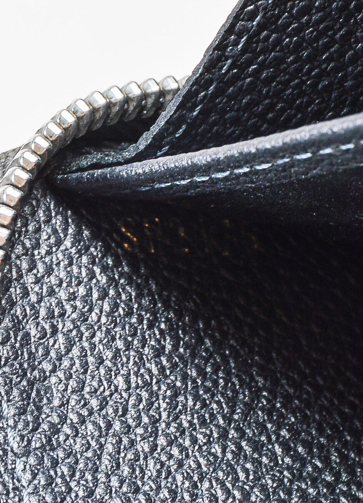 "Louis Vuitton Grey Monogram Empreinte Leather Studded Monogram ""Zippy"" Wallet Date Code"